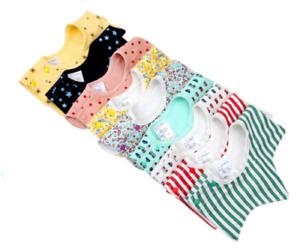 4PCS Baby Bibs Cotton Star&Flower Shape Waterproof Kids Toddler Infant 360° Bibs