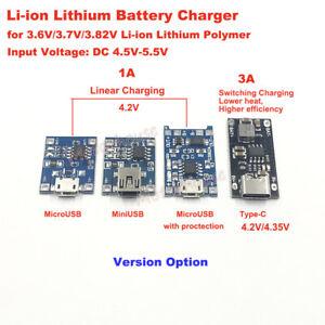 Micro/Mini USB Type-C Lithium Li-ion 18650 Battery Charger Module Charging Board