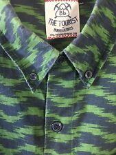 Bb The Tourist Burkman Bros Shirt Short Sleeve Button Front Men's 2XL Fits 2XLT