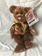 TY BEANIE BABIES 2002  WORLD CUP - CHAMPION - USA BEAR - IMMACULATE