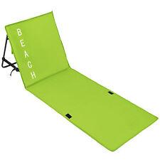 Esterilla de playa acolchada respaldo ajustable esterilla manta camping nuevo