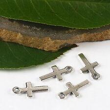 70pcs tibetan silver color mini cross charms h2654