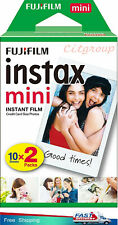 Fujifilm P10GM63240A Instax Mini Colour Film - ISO 800, 10 Shots - 2 Packs