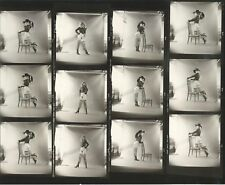 Hendrickson Contact Sheet Proof & Negatives Risqué Sexy Blonde Model Posing Lane