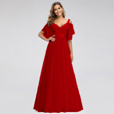 Formal Ball New Long Bridesmaid Evening Chiffon Gown Party Prom Dress Size 6-26