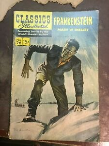 Classics Illustrated Frankenstein by Mary Shelley #26 HRN#160
