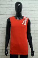Maglia EVERLAST Uomo Taglia XXL Maglietta Canotta Shirt Cotone Smanicato Rosso