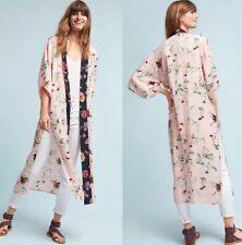 Anthropologie Duster Kimono Top New Size Large Rust Burnt Orange Crochet Lace