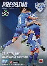 Programm 2015/16 TSG 1899 Hoffenheim - Hannover 96