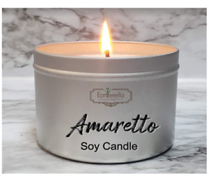 AMARETTO Soy Candle Tin | Cherry Almond