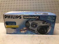 NEW VINTAGE Philips Magnavox AZ1202 CD Radio Cassette Recorder BOOMBOX NIB NOS