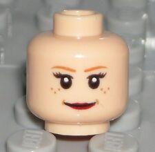 LEGO Light Flesh Pepper Potts Super Heroes Female Minifigure Head Dual Sided NEW