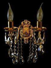 Bleikristall Wandkronleuchter Wandlampe Kristall verfügbar in Gold- o. Silberf.