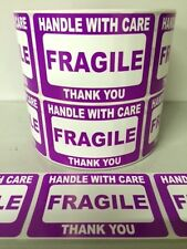 25 2x3 Fragile Stickers Self Adhesive Handle With Care Stickers Shipping Labels