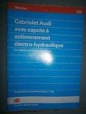 Audi capote électro-hydraulique sur cabriolet : programme autodidactique 156