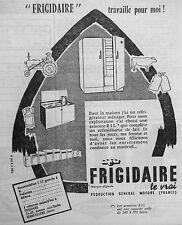 PUBLICITÉ FRIGIDAIRE RÉFRIGÉRATEUR POUR EXPLOITATION AGRICOLE L'ARMOIRE RIL