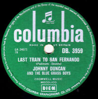 Skiffle Johnny Duncan 78 Last Train To San Fernando / Rock A Billy Baby DB 3959