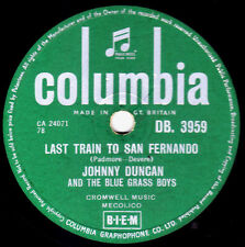 SKIFFLE JOHNNY DUNCAN 78 LAST TRAIN TO SAN FERNANDO /ROCK-A-BILLY BABY DB3959 EX