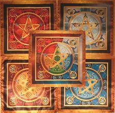 Set tablecloth Wicca Force 5 Elements Size Medium 5 clotes 24x24