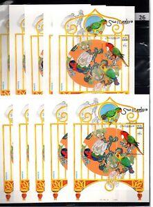 CL 10X SOMALIA - MNH - NATURE - BIRDS - PARROTS - 1999 - WHOLESALE