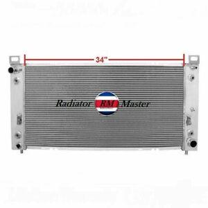 Aluminum Radiator For Cadillac Escalade +Shroud&Fans 4.8L/5.3L/6.0L V8