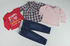 Kombi Jeans Hose + Bluse + 2x LA-Shirt, 12-18 Mon (Gr 80 86), sehr guter Zustand