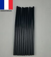 10 Bâtons Tube de Colle Thermofusible Noirs pour Pistolet 19,5 cm x 7 mm