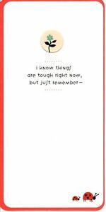Encouragement Red Ladybug Ladybugs & Flowers Up Through Dirt Hallmark Card