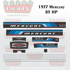 1977 Mercury 85 HP Outboard Reproduction 12 Piece Marine Vinyl Decals 850