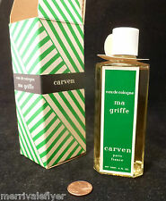 vintage Full! CARVEN MA GRIFFE Incredible Perfume Bottle Eau de COLOGNE New 4 oz