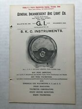 1903 General Incandescent Arc Light Company Electric Bulletin - Instruments