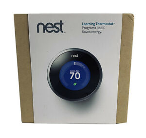 Nest 1st Generation Learning Silver Programmable Thermostat   Model 01A