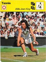 1977 Sportscaster Card Tennis Billie Jean King # 08-09 NRMINT.