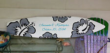 Customize 6 Foot Wood Wedding guest sign in Surfboard Decor Anniversary party