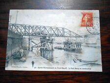Carte Postale NANTES Après l'écroulement du Pont Maudit.Le Pont Henry 1913