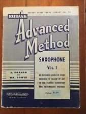 2 Vintage Rubank Saxophone Books: Adv Method Vol 1 & Supplementary Studies- Used