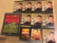 Anthony Robbins 8 Power Talk & 2 Get The Edge CDs, 1 Unlimited Power MOST SEALED