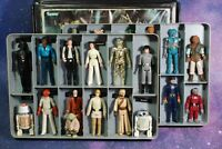 25 VINTAGE Star Wars ACTION FIGURES LOT + VINYL COLLECTORS CASE KENNER