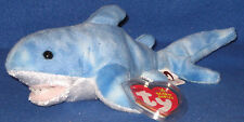TY FINN the SHARK BEANIE BABY - MINT with MINT TAGS - SEA CENTER EXCLUSIVE