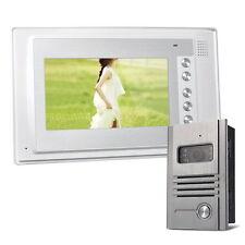 """Farb Video Gegensprechanlage Türsprechanlage 1 x 7"""" Monitor Klingel Sprechanlage"""