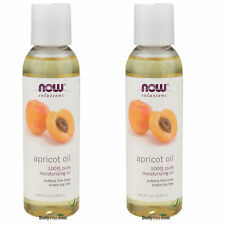 2 x NOW FOODS 100% Pure Apricot Kernel Oil 4 oz (118mL),FRESH, MADE IN USA