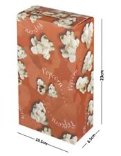 More details for popcorn red disposable boxes - party tub paper serving box - cinema movie night