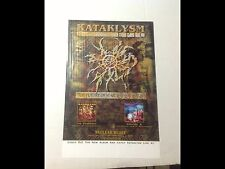 RARE! CD lp KATAKLYSM PROMO POSTER 17x11 metal heavy rock music vintage