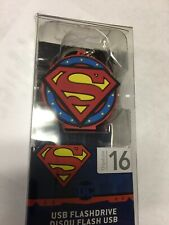 Superman USB 2.0 Flashdrive 16GB DC Comics Collectible Keychain eKids - 10G7D0