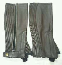 100% Leather Chaps  top quality Straight Cut Brown Chaps Size Large New 57