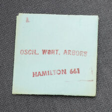 HAMILTON 17J 661 OSCIL. WEIGHT ARBOR WATCH PART (1) NEW OLD STOCK WATCHMAKERS