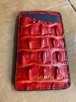 Brahmin LAVA Melbourne Embossed Slim Card Case Wallet New