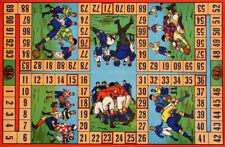 Original Vintage Rugby Board Game Poster C1925 Football English Sport British