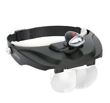 Carson MagniVisor Head-Band LED Lighted Magnifier with 4 Interchangeable Lenses