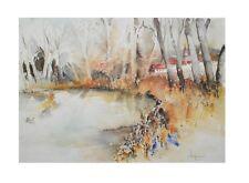 E. Hofmann Landschaftsstudie I Poster Kunstdruck Bild 60x80cm - Portofrei